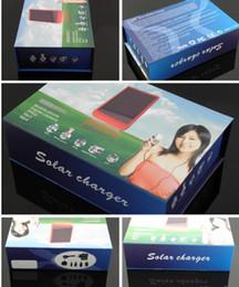 Wholesale Solar Charger Dhl - 20pcs DHl free shipping 2600MAH Solar Battery Panel Charger portable power bank