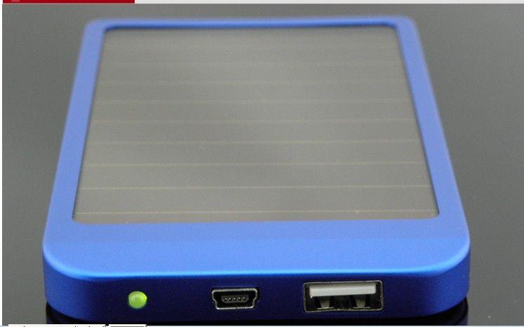2600 mah power bank usb carregador do painel solar bateria para mid mp3 mp4 pda phone frete grátis + varejo b