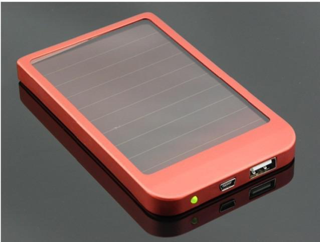 Batería del cargador del panel solar del USB de 2600mAh Power Bank para el teléfono de MID MP3 MP4 PDA Envío libre + Venta al por menor B