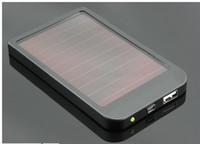 mittlere ladegeräte großhandel-2600mAh Energien-Bank USB-Sonnenkollektor-Ladegerät-Batterie für MITTLERE MP3 MP4 PDA Telefon Freies shipping + Retail B