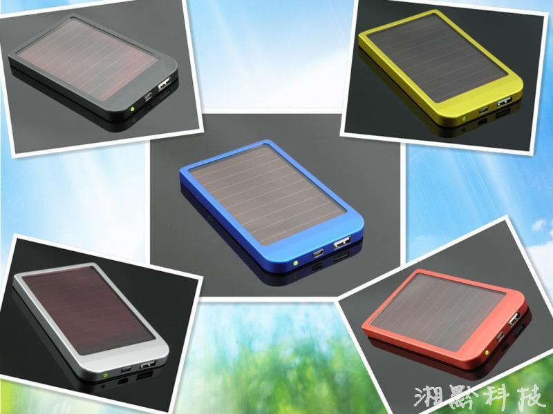 2600mAh Power Bank USB Solpanel Laddare Batteri för Mid MP3 MP4 PDA Telefon Gratis frakt + Retail B