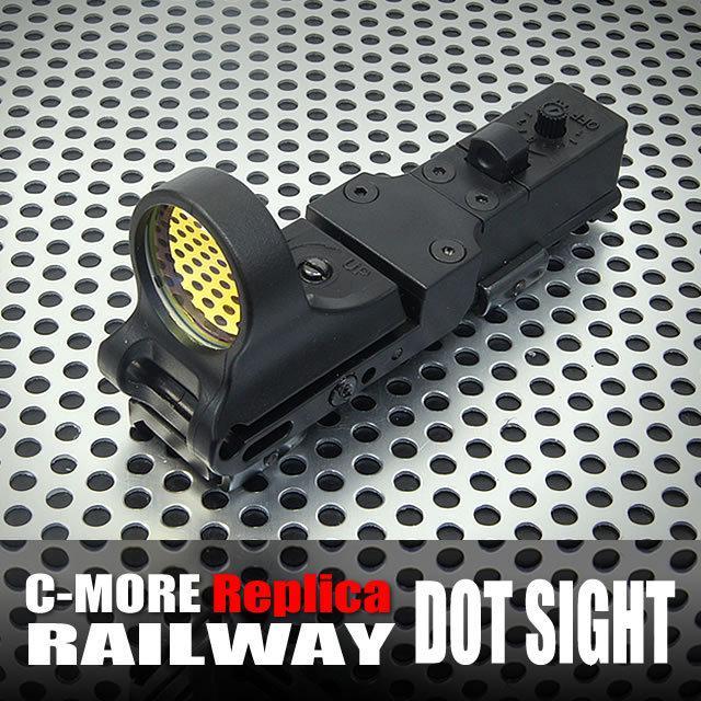 C-mer taktisk järnvägsreflex sikt 8 Moa röd prick med integrerad Picatinny Mount Polymer Matte