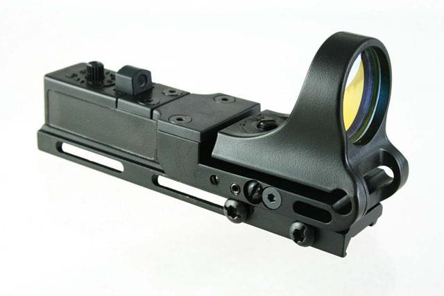 C-Plus Tactical Rail Reflex Viseur 8 MOA Red Dot avec Matte de Polymère Mount Picatinny Intégral