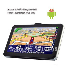 """Wholesale Gps W Wifi - Free shipping 5"""" Car GPS navigation Android 4.0 512M DDR2 1GHz Europe Map Navigation w  WiFi FM Blac"""