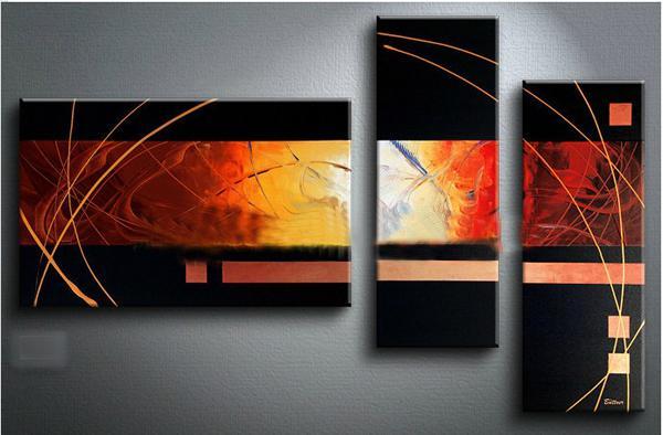 Pintura al óleo negro lienzo moderno abstracto contemporáneo ilustraciones oficina en casa hotel decoración arte de la pared decoración regalo envío gratis