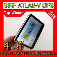 Wholesale Gps Sirf V - Wholesale - 4.3 inch gps navigation,Sirf atlas-V Dual Core 600MHZ,128RAM,Built-in 4GB, Preload Navit