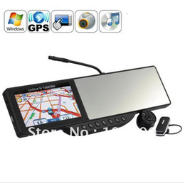 Wholesale Touchscreen Mirrors - 5 inch HD touchscreen Rearview Mirror Built-in GPS Navigation with Bluetooth headset and 720P HD DVR
