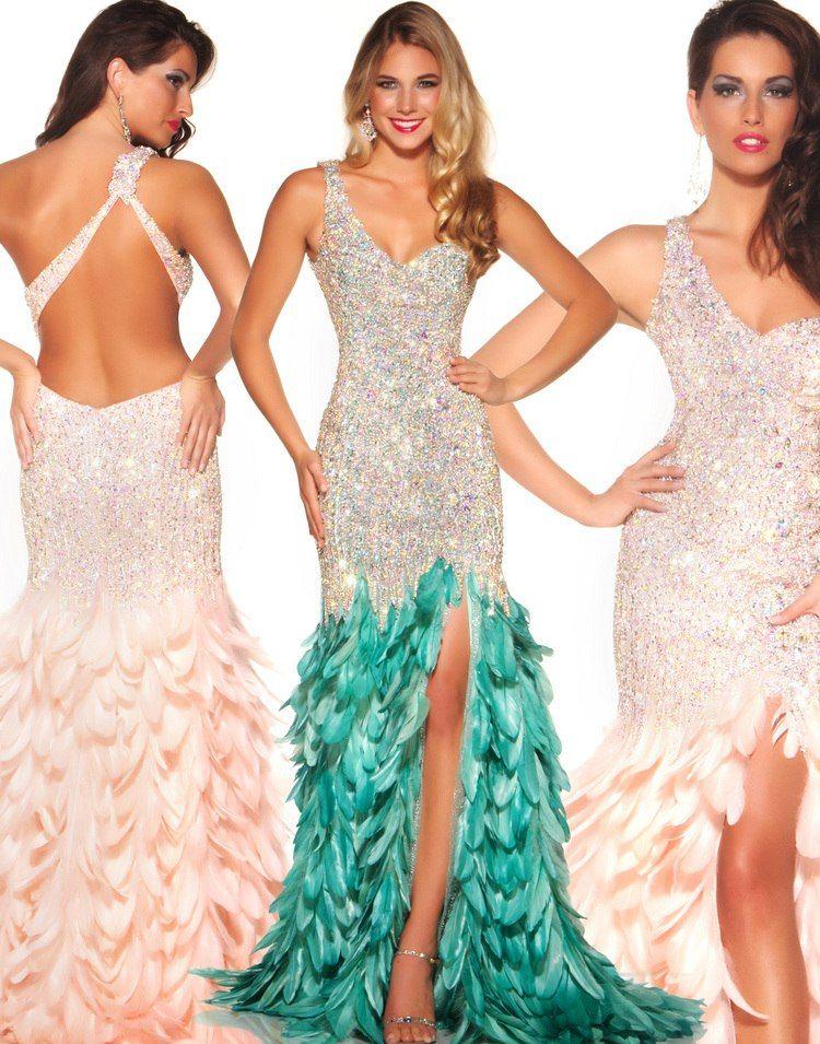 New Arrival Prom Dress One Shoulder Sheath Front Split Beaded ...