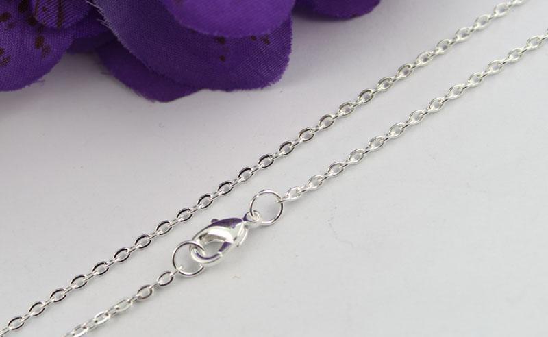 10 piezas de plata esterlina chapado en alas de ángel colgante collares de cadena # 22472