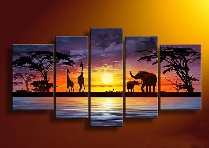 2019 Beautiful African Landscape Oil Painting On Canvas