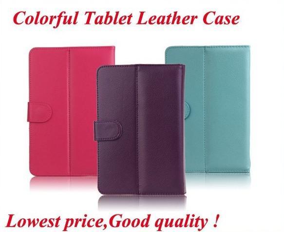 Gratis verzending 7 '' Universal lederen tas voor alle 7 '' tablet pc Newman S1, Ainol Novo7 Tornados, Cube