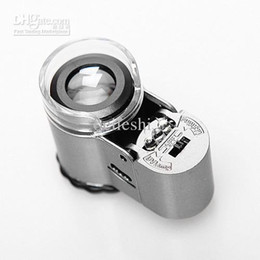 Wholesale Lighted Loupes - 50X Smallest Mini Digital Microscope With LED Lights Loupe Pocket Magnifier