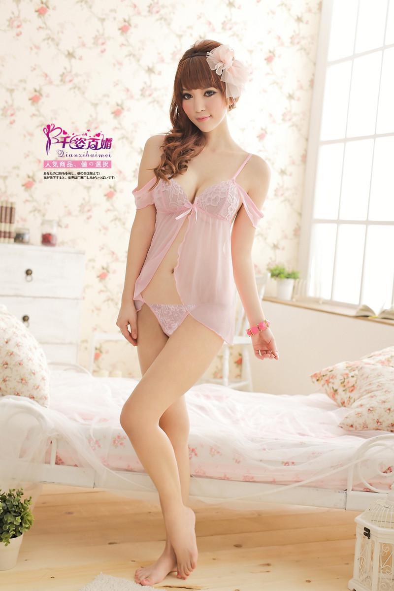 New Women Sexy Lingerie Fashion Pretty Cute Pink Babydoll Teddy ...
