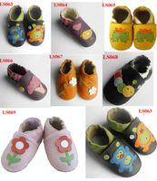 ingrosso scarpe da passeggio per bambini-Morbida suola in pelle scarpe da bambino infante in pelle scarpe da passeggio scarpe prewalker