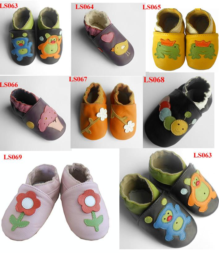 2017 Leather Baby Soft Sole Walking Shoes Zoo Newborn Infant Pre ...