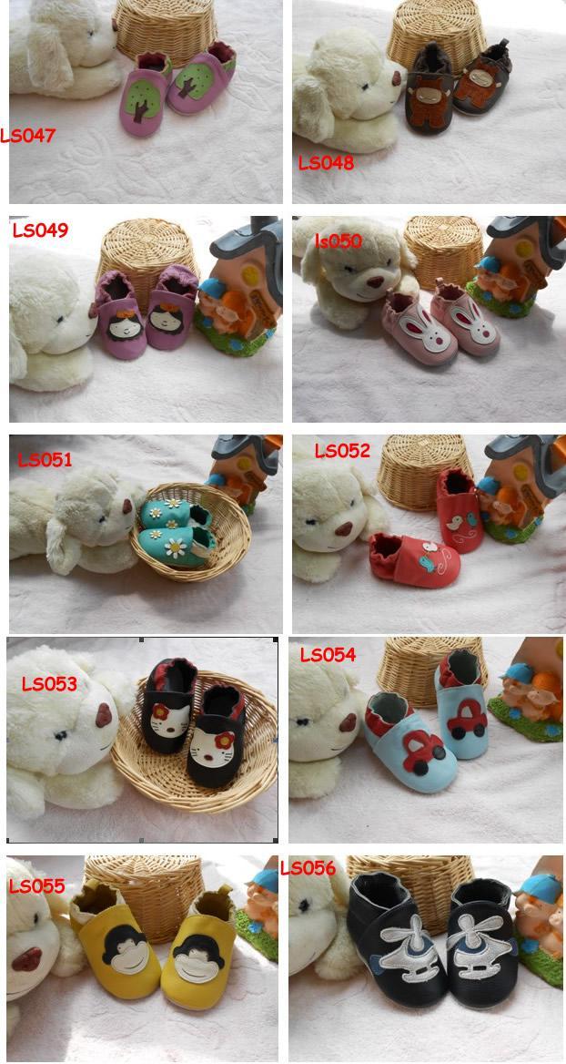 Suela blanda Zapatos de cuero para bebés Infant Toddler leather Walking shoes Prewalker Shoes