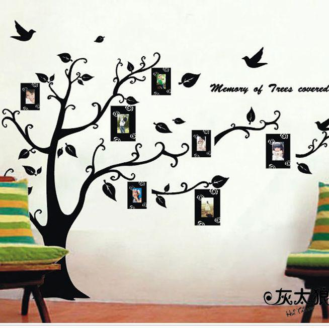 Black Wall Decals new black photo memory tree wall sticker fashion wall decals home