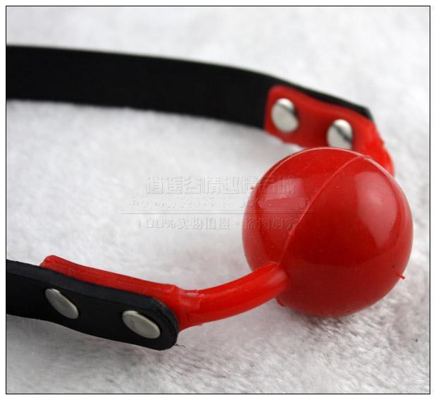 열린 입 속박 붉은 실리콘 볼 구리 잠금 열정이있는 개그 BDSM 섹스 제품 장난감