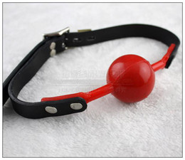 $enCountryForm.capitalKeyWord Canada - New open mouth bondage red silica gel ball gag passion flirting BDSM mouth gags sex product toys