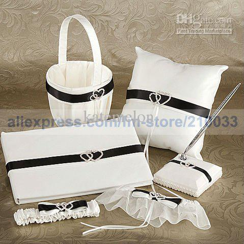 Online Cheap Wedding Party Personalized Stuff White And Black