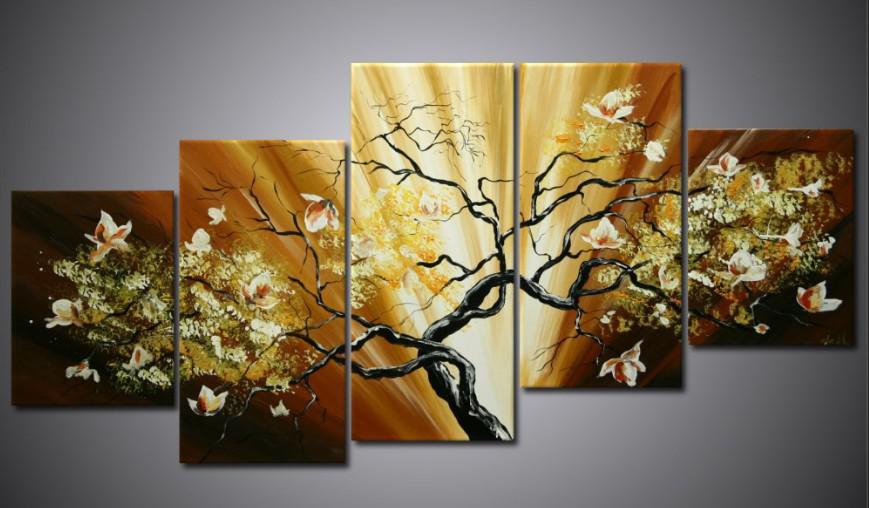 Acheter peinture À l huile canva paysage de fleurs moderne