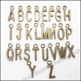 Misch Charms 26 Buchstaben Anhänger Antike Bronze-Legierung passende Armband-Halskette DIY Metallschmucksachen 520pcs von Fabrikanten