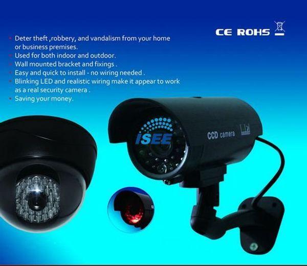 Led finto esterno CCTV IR Wireless telecamera di sicurezza Flash Led rosso professionale SPEDIZIONE GRATUITA CINA P