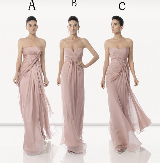 Dark Pink Sweetheart Rosa Clara Designer Bridesmaid Dresses Floor ...