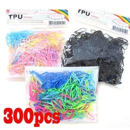 Wholesale Elastic Ribbon Braided - 300pcs Rubber Hairband Rope Ponytail Holder Elastic Hair Band Ties Braids Plaits[99427,99528,99529]