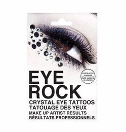 Wholesale Eyes Stickers Crystal - 50 Pairs Fashion Temporary Eye Rock Tattoo Sticker Crystal Tattoos Professional Makeup