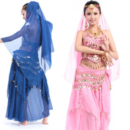 Wholesale Belly Dancing Clothes - Belly Dance Clothing Belly Dance Suit Belly Dance Performance Coat+ Hip Belt + Trousers + Veil 434