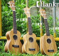 Wholesale Zebrawood Soprano Ukulele - Hanknn Ukulele All Zebrawood Body Soprano Pineapple Concert in Stock