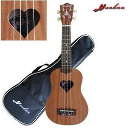 Hanknn Soprano Ukulele with Loving Heart Sound Hole Free Gig Bag