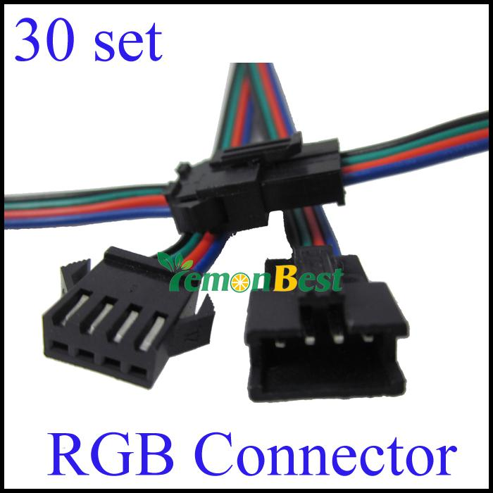 2018 4 Pin Male And Female Rgb Connector Wire Cable For 3528 5050 ...