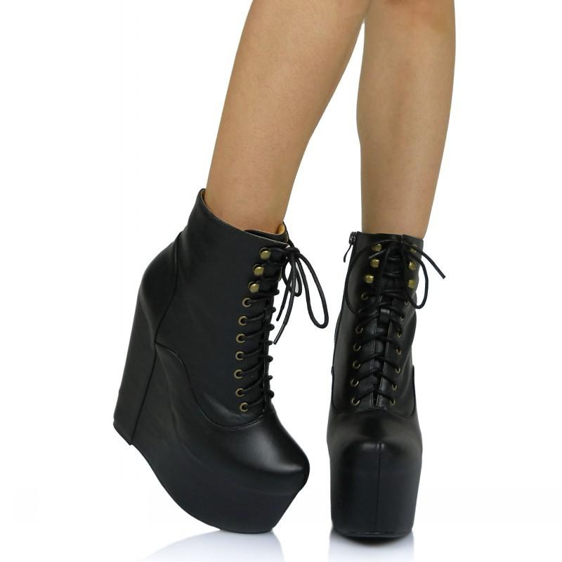 Jeffrey Campbell Leather Platform Ankle Boots clearance 2014 free shipping outlet outlet high quality NhjzHrv1S