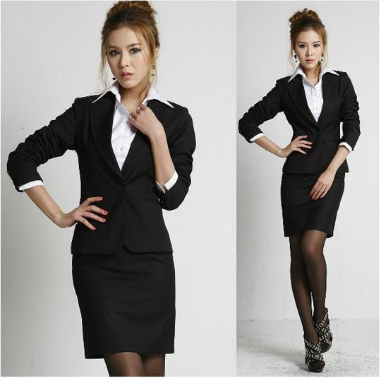 2017 Fashion Women's Formal Suit Coat Black Dress Spring And ...