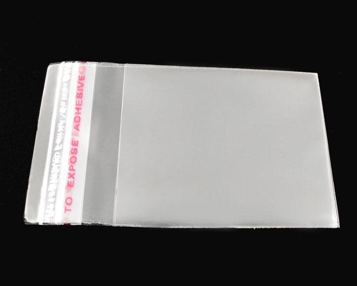 1000個の透明な自己接着シールのビニール袋6x4cm