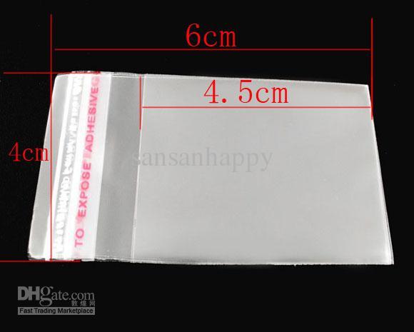 Rensa självhäftande tätningspåsar 6x4cm