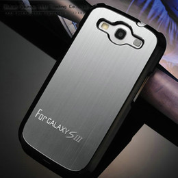 Wholesale Metal Case S3 Brushed - HOT ! Brushed Aluminum back case for samsung i9300 matel cover for galaxy s3 with a front protector