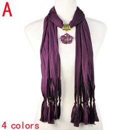 Wholesale Purple Neckerchief - fashion women pendant scarf 2015 witer neckerchief shawls flower pendants scarf jewelry accessories,4colors,handmade NL-1942