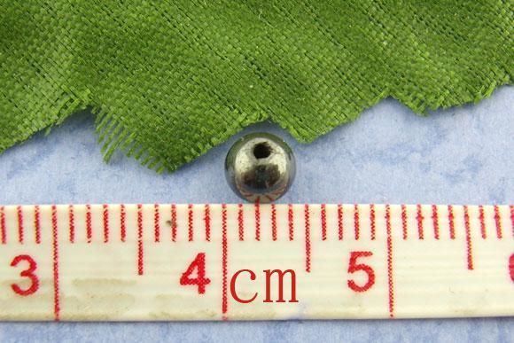라운드 마그네틱 양쪽 스페이서 비즈 4mm dia.