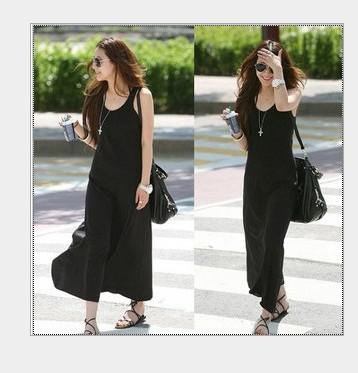 블랙 슬림 롱 드레스 레이디의 백업 치마 패션 Pinafore 드레스 캐주얼 롱 드레스 무료 배송