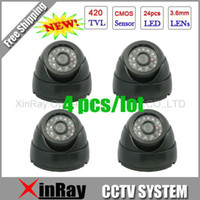 Wholesale Cctv Color Ir Dome Camera - Free Shipping,Surveillance 420TVL Night Vision Color IR Indoor Dome CCTV Camera ,Home Security Camer