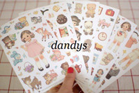 Wholesale Live Dolls - Freeshipping! New kawaii doll paper sticker note sticker   Decoration label  6pcs set Multifunction