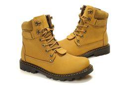 Boas cunhas on-line-Botas de couro dos homens Martin boot top final do couro à prova d 'água cunha botas de caminhada ao ar livre top boot bom amarelo frete grátis