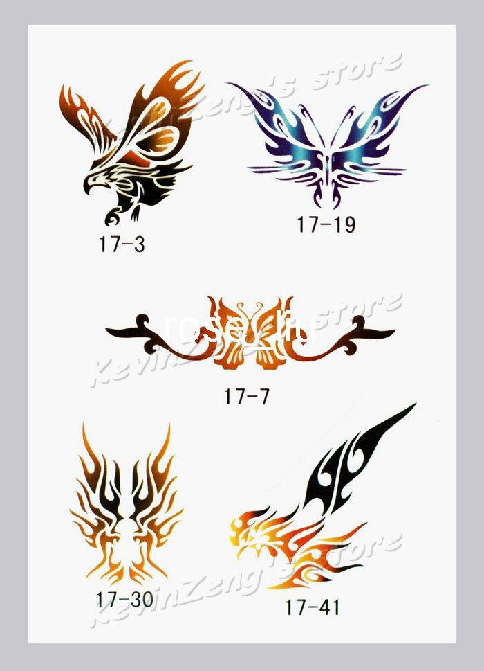 Temporary Airbrush Tattoo Stencils Book Template Booklet 17 50 ...