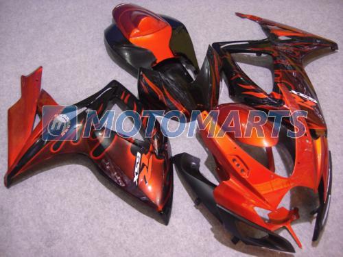 Orange Flamme für Suzuki GSXR 600 750 K6 2006 2007 GSXR600 GSXR750 06 07 GSX-R600 Verkleidungssatz 6752
