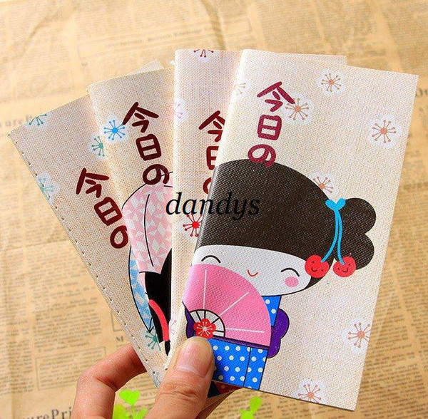 Freeshipping! New japanese girl diary book / colorful inner notebook / notepads / 4designs / wholesa