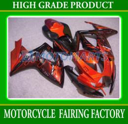 Wholesale Suzuki Gsxr Fairing Orange K6 - Orange flame for suzuki GSXR 600 750 K6 2006 2007 GSXR600 GSXR750 06 07 GSX-R600 Fairing kit 6752