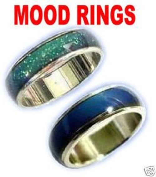 بالجملة -أفضل جودة! MOOD RINGS! تغيير اللون 6 ملم في العرض ، 2.7g / pc